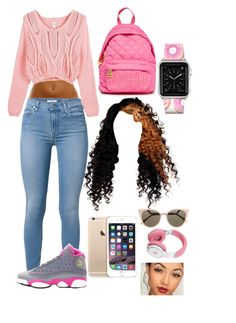 """"" by mina-smith1 on Polyvore featuring 7 For All Mankind, NIKE, Moschino, Casetify and Fendi"