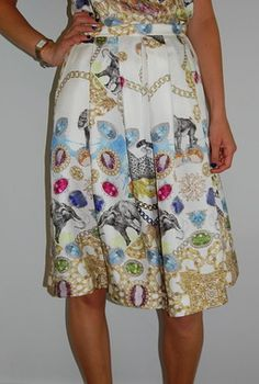 Collage pleat skirt, Tibi always knows how to do great prints!