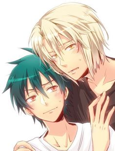 Read Maou X ashiya( Satan X Alciel) from the story The Yaoi Picture Book And One Shots by Shun_SakiX with reads. Devil Part Timer, Hataraku Maou Sama, Slice Of Life, Cute Anime Character, Anime Ships, Satan, Anime Characters, Fan Art, Pictures