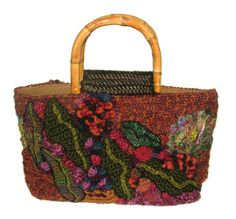 Free Form Crochet Purse Pattern | Autumn | Renate Kirkpatrick's Freeform Crochet~Knit~Fibre Designs