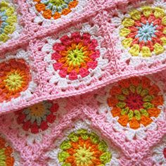 Color 'n Cream Crochet and Dream: Flower Square Tutorial II