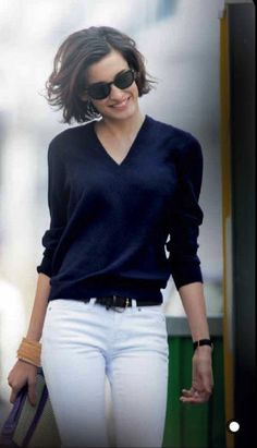 Classic Black and White This is the daughter of Ines de la Fressange. I`ve recently purchased her book `Parisian Chic`.  It`s a fab style bible.  Love this look!