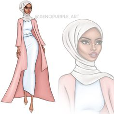 where modesty meets beauty , Hijab Drawing Source : salaam beauties! where modesty meets beauty , by balalsheikh Fashion Figure Drawing, Fashion Drawing Dresses, Fashion Illustration Dresses, Dress Design Sketches, Fashion Design Sketchbook, Fashion Design Drawings, Fashion Model Sketch, Fashion Sketches, Moda Hijab