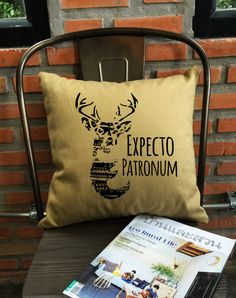 SALE  Expecto Patronum Pillow cover Magic spells by Lessssismoreee