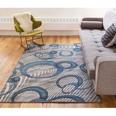 Varick Gallery Ruark Blue Area Rug Size 3 X 5