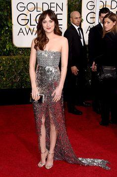 Golden Globes 2015 Dakota Johnson en Chanel