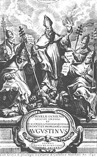 Title page of Augustinus, by Cornelius Jansen, published posthumously in 1640