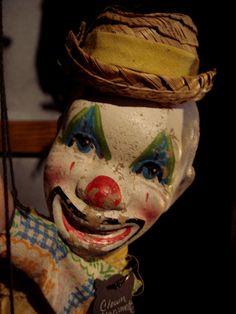 Vintage Circus Clown Marionette Puppet