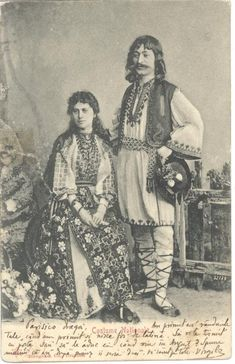 Various photographs depicting Romanian old folk costumes from late Century and early Century. THE VINTAGE THIMBLE