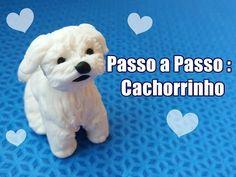 Cachorro peludo fofinho - Tutorial em biscuit por Regiane Ribeiro - YouTube