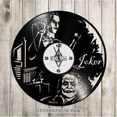 Recycled wall clock Joker Jared Leto Heath Ledger