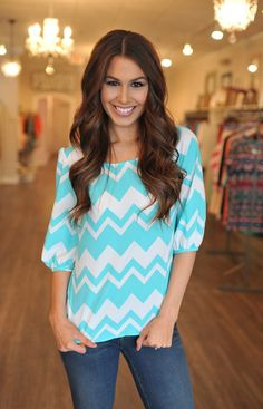 Dottie Couture Boutique -  Chevron Blouse, $42.00 (http://www.dottiecouture.com/chevron-blouse-1/)