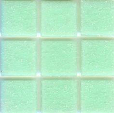 Mosaic glass tile modwalls opaque green Brio Color Spermint