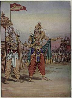 Duryodhana showing his army to Drona.jpg