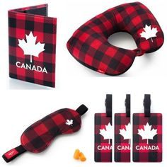 Heys Canada Travel Set Neck Pillow Passport Cover Luggage Tags Eyeshad – LazyBreeze Deals