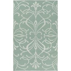 Featuring an intricate scrollwork design in a moss hue, this lovely rug lends a touch of pattern to your living room seating group or entryway.