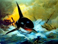 Orca Killer Whale-Frank Frazetta