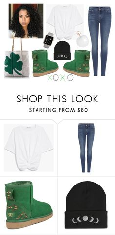 """Im not Irish but you should still kiss me"" by ksha1062 on Polyvore featuring 7 For All Mankind and UGG"
