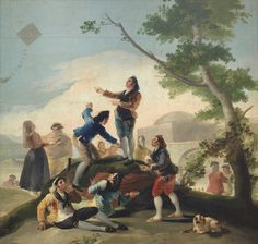 An poster sized print, approx (other products available) - Francisco de Goya y Lucientes Spanish painter. The Kite, Prado Museum. Date: - Image supplied by Mary Evans Prints Online - Poster printed in the USA Francisco Goya, Spanish Painters, Spanish Artists, Canvas Art, Canvas Prints, Oil Painting Reproductions, Portraits, Giclee Print, Art Photography