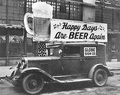 Gleefully announcing the repeal of Prohibition!