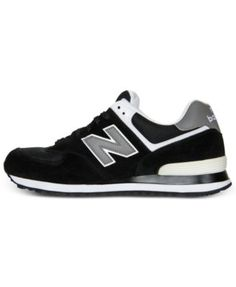 New Balance Men's 574 Core Suede Casual Sneakers from Finish Line - Black 10.5