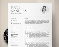 Modern Professional Resume, Two Page Resume, Curriculum Vitae Template, 2 Page Resume and Cover Letter Template + Reference = 4 page resume Free Cover Letter, Cover Letter Template, Letter Templates, Cover Letters, Modern Resume Template, Resume Template Free, Creative Resume Templates, Microsoft Word, Blogger Logo
