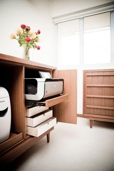 Trendy home office storage printer work spaces Ideas Paper Storage, Home Office Furniture, Interior, Printer Storage, Office Storage, Home Office Storage, Home Decor, Office Interior Design, Office Design