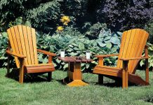 Outdoor Slat Chair Plans