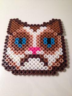 Grumpy Cat Perler Beads by Kate Chaplin | CATS | Pinterest