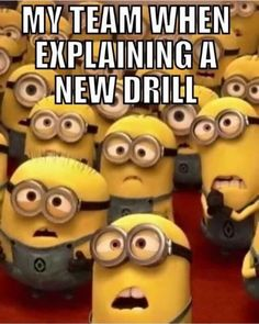 Explaining new drill to team