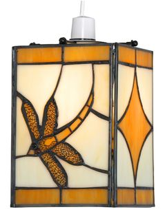 A Dragonfly designed tiffany lamp shade available in a choice of colours, amber, red, blue or green. A full range of lampshades available from luxury lighting