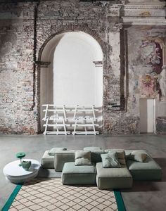 Sectional upholstered #sofa PEANUT Peanut Collection by Bonaldo | #design Mauro Lipparini @bonaldo