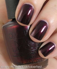 OPI - Every Month is Oktoberfest...really like this color, even though that picture doesn't show it correctly. It is more dark purple!