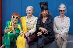 The Advanced Style Ladies Sit Front Row At Karen Walker