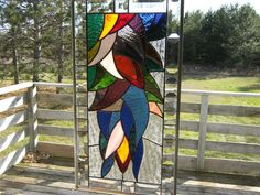 034 Fireweed 2 034 Stained Glass Hanging Panel | eBay