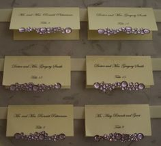 blinged out place cards...