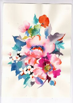 Helen Dealtry's artwork feels like a garden spilled onto paper. This beautiful watercolor print is $150 at WorkingGirlDesigns.