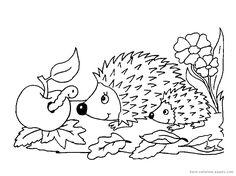 Myszka i Jeż - kolorowanki do druku - FD