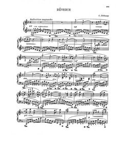 Reverie by Debussy. Go listen to this beautiful piece!