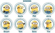 The main minions names, my favorite is Paul! There so funny!