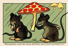 Image issue du site Web http://rocbo.lautre.net/illus/RabierBenjamin/img/BenjaminRabier_parapluie.png