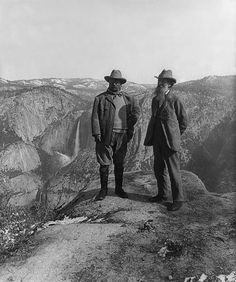 Two heroes: Teddy Roosevelt and John Muir. Backpacking in Wyoming. These are two of my favorite people!  Great historical pic