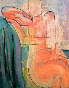 This is a painting of a lady with no clothes on by a very famous French painter called Henri Matisse, It was painted before your father was born Do you like it? What do you think about him not painting her face? Henri Matisse, Matisse Kunst, Matisse Art, Matisse Paintings, Figurative Kunst, Post Impressionism, Pablo Picasso, Art Plastique, Figure Painting