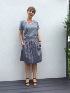 Everydayskirt von Liesl and Co. und Plantain Shirt von Deer and Doe genäht von ganzmeinding