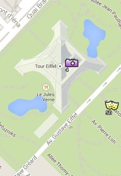 Clica aquí para conocer la Situación de la Torre Eiffel en el Mapa de París