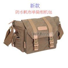 Canvas camera bag travel backpack waterproof canvas shoulder bag one shoulder slr camera bag $38.02