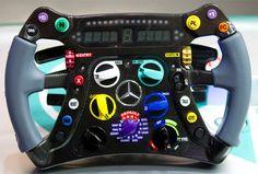 Volante de un auto Formula 1