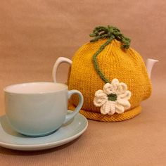 Items similar to Flower Tea Cosy - Hand Knitted Tea Cozy - Tea Pot Cosy on Etsy Handmade Shop, Handmade Items, Flower Tea, Tea Cozy, Cream Flowers, Christmas Shopping, Cosy, Holiday Gifts, Hand Knitting