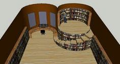 Circular shaped library is so cool!