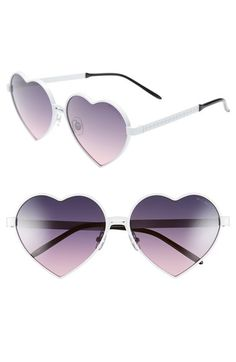 Wildfox+'Lolita'+59mm+Heart+Sunglasses+available+at+#Nordstrom